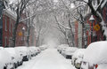 Montreal street in winter Royalty Free Stock Photo