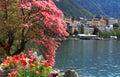 Montreux and Lake Geneva, Switzerland. Royalty Free Stock Photo