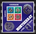 Montserrat local coinage stamps Royalty Free Stock Photo