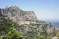 Montserrat Monastery high up in mountains, Spain Stock Photo