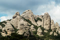 Montserrat mountain in catalonia spain Royalty Free Stock Photography