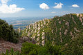 Montserrat is a mountain near Barcelona Royalty Free Stock Photos