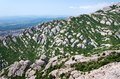 Montserrat is a mountain near barcelona in catalonia Royalty Free Stock Photo