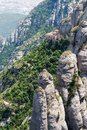 Montserrat is a mountain near barcelona in catalonia Stock Images