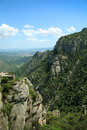 Montserrat mountain near barcelona in spain Royalty Free Stock Image