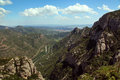 Montserrat mountain near barcelona in spain Stock Photos