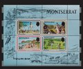 Montserrat stamps tourism sheet plymouth from forth st george war memorial carrs bay and the thtee fairway Stock Photo