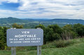 Montvale overlook on the blue ridge parkway virginia usa Stock Image