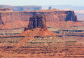 Monument érodé dans canyonlands Photos libres de droits