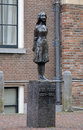 Monument of anne frank in amsterdam outside the westerkerk western church netherlands Stock Image