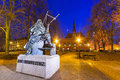 Monument of astronomer johannes hevelius in gdansk poland Royalty Free Stock Photos
