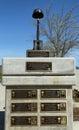 Monument auf ehre von gefallenen soldaten verlor ihr leben im irak und in afghanistan in den veteranen memorial park stadt von Stockfotografie