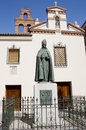 Monument cardinal cisneros of francisco jimenez de in alcala de henares madrid Stock Image