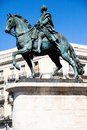 The monument of charles iii on puerta del sol in madrid spain Stock Photos