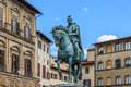 Monument of Cosimo I Medici in in the Piazza della Signoria in Florence Royalty Free Stock Photo