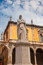 Monument of Dante, Verona, Italy Stock Photography