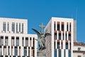 Monument de martyres à Zaragoza, Espagne Images libres de droits