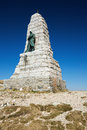 Monument dedicated to the Blue Devils near the summit of the Grand Ballon Royalty Free Stock Photo