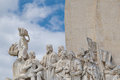 Monument the discoveries to is a on northern bank of tagus river estuary in civil parish of belem lisbon Stock Photography