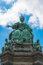 Monument of the famous monarch maria theresia of habsburg vienna in austria europe was built by kaspar von zumbusch in year Royalty Free Stock Photography