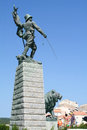 Monument of the foreign legion in the citadel of bonifacio france Royalty Free Stock Photo
