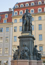 Monument of Friedrich August King of Saxony Royalty Free Stock Image