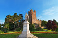 Monument of giorgione castelfranco veneto italy statue dedicated to the painter in treviso Royalty Free Stock Image