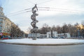Monument glory of soviet science monument dna voronezh russia february monumental and decorative structure consists balls Royalty Free Stock Image
