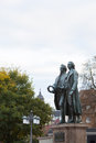 A monument of Goethe and Schiller Royalty Free Stock Photo