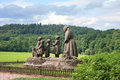 Monument grandma with children the character from the book bozena nemcova babicka made by otto gutfreund unveiled Stock Photography