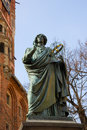 Monument of great astronomer Nicolaus Copernicus Stock Images