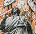 Monument of great astronomer nicolaus copernicus torun poland Royalty Free Stock Photo
