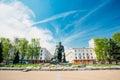 Monument in honor of the national poet and writer belarus yakub kolas minsk belarus Royalty Free Stock Photos