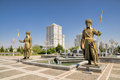 Monument of independence in Ashgabat Royalty Free Stock Photo