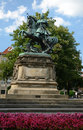 Monument of Jan III Sobieski - side view Royalty Free Stock Images