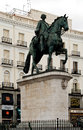 Monument king carlos iii square puerta del sol madrid madrid spain febreuare Royalty Free Stock Photography