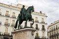 Monument king carlos iii square puerta del sol madrid spain Royalty Free Stock Photography