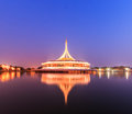 Monument at King Rama IX park Royalty Free Stock Images