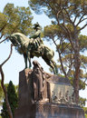 Monument king umberto i in villa borghese park rome italy close up a sunny day Royalty Free Stock Photos