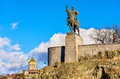 Monument of King Vakhtang I Gorgasali in Tbilisi Royalty Free Stock Photo