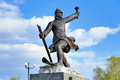 Monument in komsomolsk on amur russia to the participants of the ice transition khabarovsk far east Stock Photo