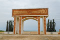 Monument or memorial of the slave trading time at the coast of Benin Royalty Free Stock Photo