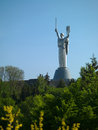 The monument motherland in kiev photo big on sky background Stock Image