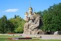 Monument Mothers sorrow in Mamaev Kurgan, Volgograd, Russia Royalty Free Stock Photo