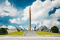 Monument near building belorussian museum of the great patriotic war in minsk belarus Royalty Free Stock Image