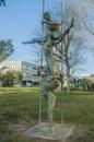 Monument the near the polytechnical university of valencia Stock Photos
