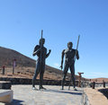 Monument near village Betancuria, Canary Island Fuerteventura Royalty Free Stock Photo