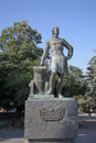Monument of Peter the Great in Azov Royalty Free Stock Photo