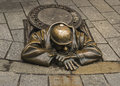 Monument plumber in Bratislava, Slovakia