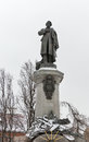 Monument of Polish poet Adam Mickiewicz in Warsaw, Poland.